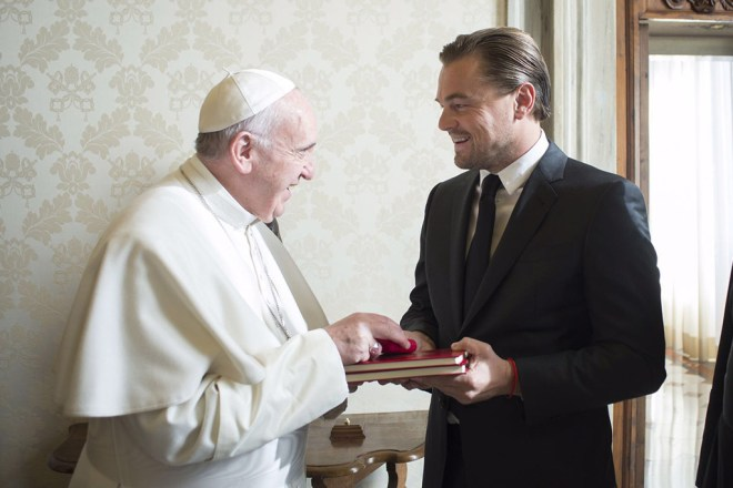 what to wear to meet the pope leonardo dicaprio 2016