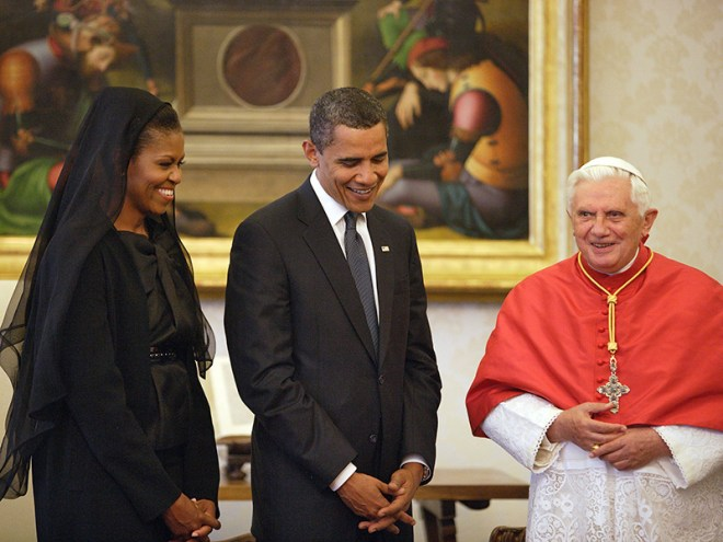 what to wear to meet the pope obamas benedict 2009