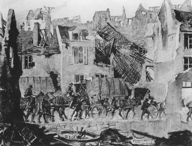 111-SC-20114 American troops entering a village