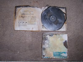 """1/4"""" Film Soundtracks affected by leaky ceilings. Advanced mold growth was evident."""