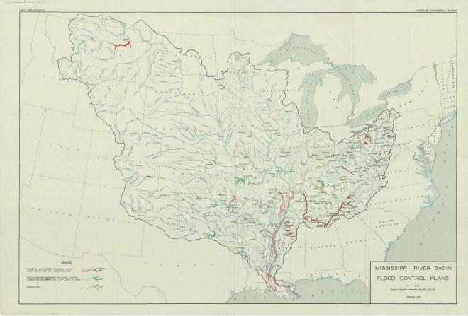 RG 77 Flood Control Maps NAID 1078584, Mississippi River Basin 1938
