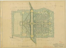 Revised Preliminary Plan American Cemetery Meuse-Argonne at Romagne, 1923