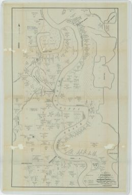 Map of Plantations in Carrol Parish, Louisiana, and Issaquena County, Mississippi. Goodrich Division, Skipwith District. NAID 26465536. https://catalog.archives.gov/id/26465536
