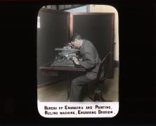Bureau of Engraving and Printing. Ruling Machine, Engraving Division. RG 56-AE-17.