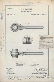 J. B. Halbert's Ratchet Wrench https://catalog.archives.gov/id/6277694