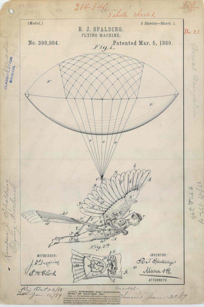 R. J. Spalding's Flying Machine https://catalog.archives.gov/id/6277786
