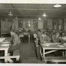 """35-GE-1G-11 """"Reading room in camp educational building"""""""