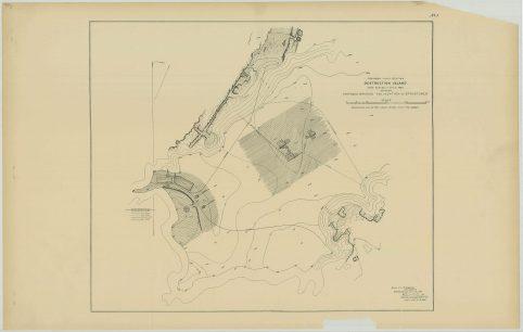 RG26: Lighthouse Plans; WA, Destruction Island; #1. Plan for proposed light station, 1887. NAID: 87201957. https://catalog.archives.gov/id/87201957