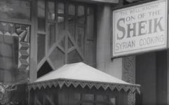 """Syrian restaurant """"Son of the Sheik."""" Still from outtakes from """"Metropolis."""""""
