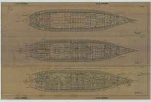 RG 19: Alpha Series; USS Arizona (BB-39). Second Platform; Hold; Double Bottom. NAID: 75840428. https://catalog.archives.gov/id/75840428