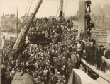 """Original Caption: Naval crew of 400 men and officers of U.S.S. """"Tenadores"""" Army Transport, wrecked December 28, 1918 on Isle d'Yeu. Local Identifier: 111-SC-44508"""