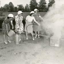 """OCD fire guard equipment at American University."" Date Taken: 1943 (Local ID: 171-OCD-313)"