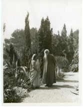 """""""Mrs. Pratima Tagore Conversing with her Father-in-Law Rabindranath Tagore in the Garden of Cap Martin"""" (306-NT-351E-9)"""