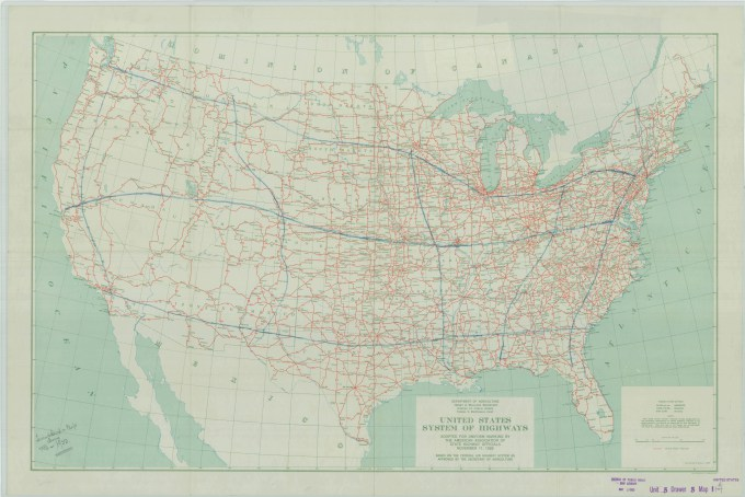 Are you red, yellow, or green? Hiding In Plain Sight The Fdr Interstate Highway Map The Unwritten Record