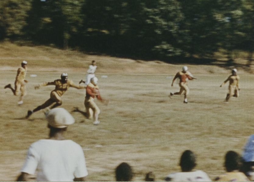 The Tuskegee Institute football team plays a game.