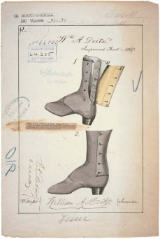 RG-241 Patent 64,205: Drawing of Improved Boot