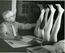 """16-G-61-N-2059: """"David H. Young - Cotton hosiery. Designed in BH8. 1941."""""""