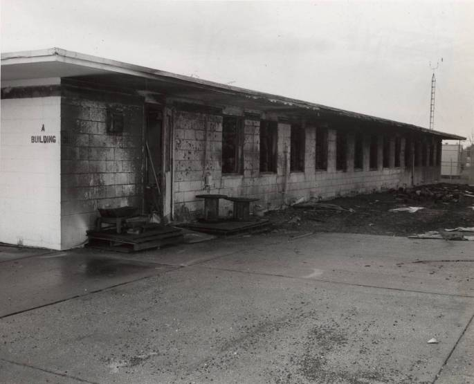 RG 64, P 61 - Building A after Fire, photo K-4