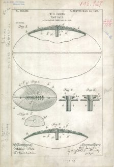 RG-241 Patent 723606: Patent Drawing of W.S. Jacobs Foot Ball.