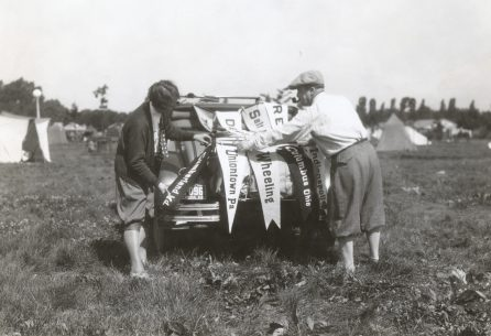 Jack and Mabel Worth, two young transcontinental motorists. Photo number 30-N-40-539.