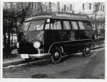 Volkswagen Bus Serves as Bookmobile, Stuttgart, Germany (306-CS-4A-23) https://catalog.archives.gov/id/23932396