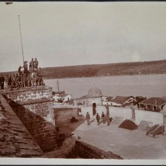 "Original Caption: ""Old Spanish Castle off Rowell Barracks, Cuba."" 94-SAW-15 (NAID: 158095337)"