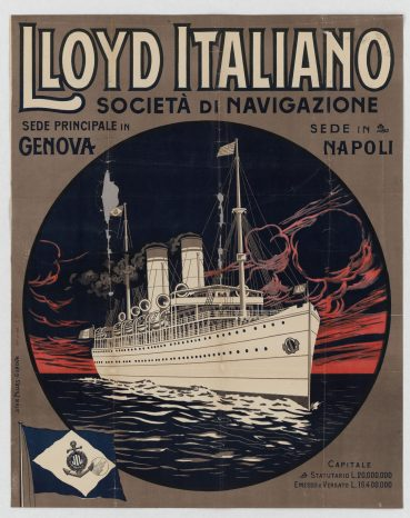 Lloyd Italiano, Office in Genoa and Naples - Local Photo ID: 85-P-12 and NAID 102252004