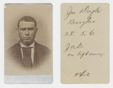 """Identification Card for John Doyle (National Archives Identifier 76040364), an example of a """"Philadelphia"""" card."""