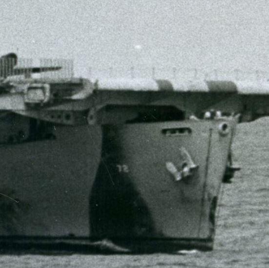 Detail of Photograph of a Ship at Sea