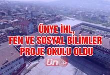 Ünye Anadolu İmam Hatip Lisesi Fen Ve Sosyal Bilimler Proje Okulu Oldu