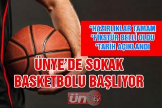 Ünye'de Sokak Basketbolu Başlıyor