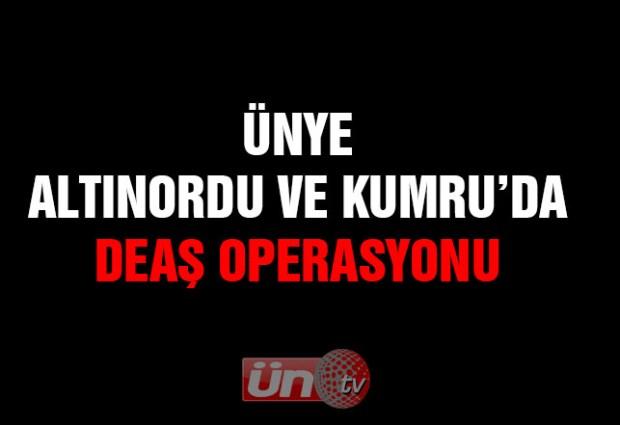 Ünye, Altınordu ve Kumru'da DEAŞ Operasyonu!