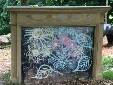 Mummy's chalk drawing