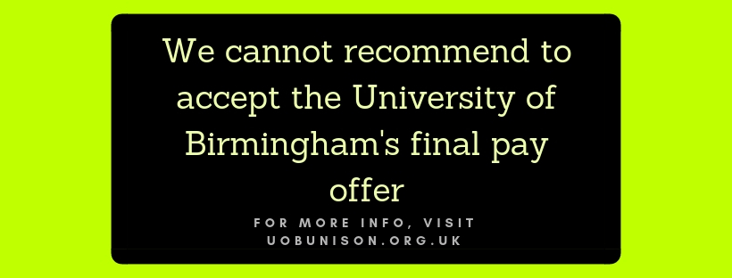 Update on the University's final pay offer – University of