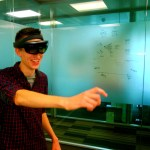 Playing with the HoloLens at Microsoft Research, Cambridge