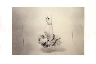 Trasitional series, photo-lithography and chine-colle prints.