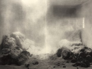"Diorama I, 2016, Photopolymer Print, Chine-Collé, 22 x 32"" (image), 30 x 44"" (paper)"