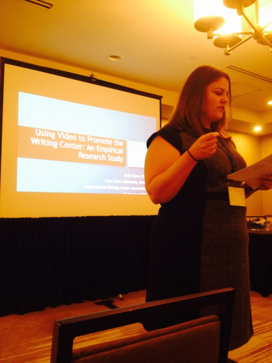 """Holly Ryan, """"Using Video to Promote the Writing Center: An Empirical Research Study"""""""