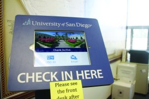 The new iPad system being used in the international center. Alexis Zenk / The USD Vista