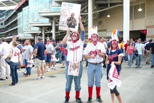 Photo Courtesy of firebrandal/Flickr Indians fans perpetuating Native American stereotypes.