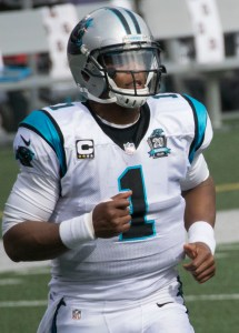 Panthers' quarterback Cam Newton is the presumptive MVP of the NFL, which will be announced on February 6. Photo Courtesy of Keith Allison