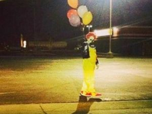 """Clowns have appeared in similar dress to the clown portrayed in the movie """"IT."""" Photo courtesy of wascoclown/Instagram"""