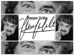 Beppe Grillo-calligrafia