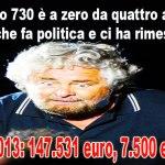 """Un povero Grillo che guadagna """"solo"""" 7.500 euro al mese"""