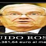 L'onorevole Vitaliziato: Guido Rossi 2.381 euro al mese