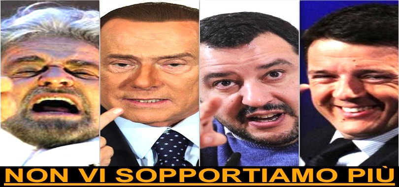 politici-grillo-renzi-salvini-berlusconi
