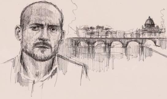 Ritratto di Gianmarco Tognazzi. Artista Roberto Di Costanzo
