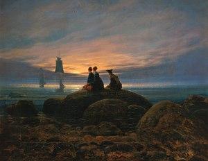 Sorgere della luna al mare - Caspar David Friedrich