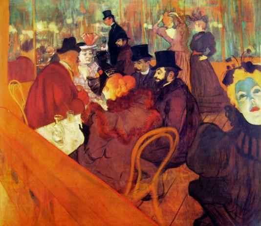 Toulouse-Lautrec Al Promenoir del Moulin Rouge