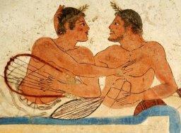 Paestum, affresco della tomba del tuffatore